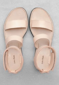 & Other Stories nude leather sandals