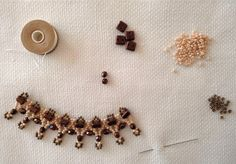 Free Bead Patterns and Ideas : Burnish Lace Necklace FREE Pattern