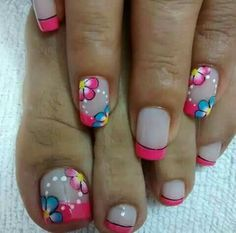 Pedicure Designs, Pedicure Nail Art, Toe Nail Designs, Toe Nail Art, Toe Nails, French Tip Nail Designs, French Nail Art, French Tip Nails, Simple Nail Designs