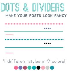 Borders and Dividers for your blog posts
