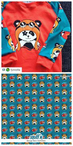 Kapitän Panda pattern © fynnzilla | fabric available at stoffn.de
