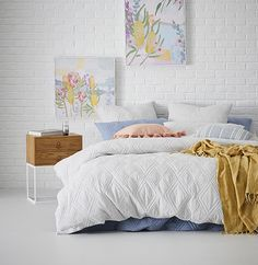 Jaxon Quilted Jersey Quilt Cover Cloud