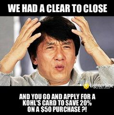 FYI - Don't buy ANYTHING on credit OR even apply for credit while closing a home. Nicole Hendricks, Realtor - Keller Williams Elite Dallas, Tx (214)809-9761 www.NicoleHendricks.com