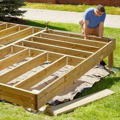 Platform Deck Brought to you by Lowe's Creative Ideas Build this low deck for entertaining or finding your Zen. In a couple of weekends, you'll have a new sense of being in your backyard. #deckframing