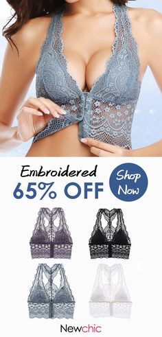 Deep Plunge Front Closure Lace Embroidered Back Bras - Bras - Ideas of Bras - Deep Plunge Front Closure Lace Embroidered Back Bras Jolie Lingerie, Sexy Lingerie, Lingerie Babydoll, Pearl Underwear, Site Mode, Cute Bras, Beautiful Lingerie, Ladies Party, Lace Bra