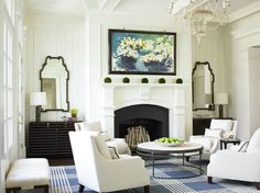 Paneled Walls With Fireplace Design Ideas, Pictures, Remodel, and Decor - page 65-walls of paneling rather than the molding boxes