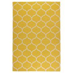 Gracias a la superficie de lana resistente a la suciedad y el uso, esta alfombra es ideal para el salón o debajo de la mesa de comedor