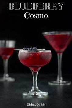 This blueberry mint cosmo cocktail recipe is delicious, refreshing and vibrant both in taste and color!  The combination of mint and blueberries makes this cocktail a total treat. #cosmo #blueberrycosmo #blueberrymintcosmo  #drink  #dishesdelishcocktail  @dishesdelish | dishesdelish.com Cosmo Cocktail, Cocktail Recipes, Cocktails, Amaretto Sour, Recipe Steps, Lunch Snacks, Light Recipes, Allrecipes, Cosmos