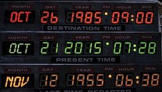 In Back to the Future Part II, hero Marty McFly travels from his present-day 1985 to 30 years in the future - October 21, 2015 - to prevent his children from making decisions that would jeopardize his family.