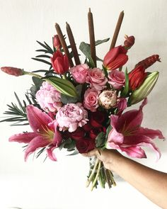 Beautiful flowers in one bouquet by madame_fleuriste #peonies #tulip #roses #lily