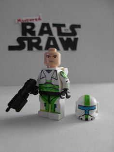 Lego Star Wars minifigures - Clone Custom Commando Fixer