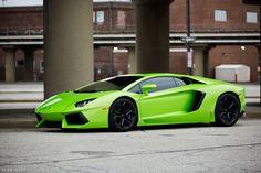 #Lamborghini Aventador Verde...