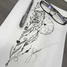 Resultado de imagem para tattoo filtro dos sonhos com lobo