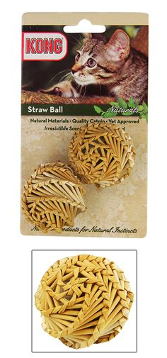 KONG® Natural Straw Catnip Ball