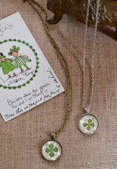 St. Patrick's Day Craft: Lucky Clover Pendant Necklace
