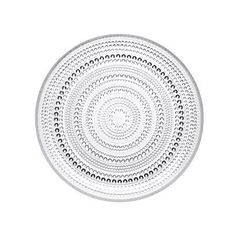 The Kastehelmi side plate 17 cm from Iittala was designed by Oiva Toikka as early as 1964, but was relaunched in 2010. Kastehelmi is the Finnish word for