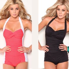 Marilyn inspired...one piece boyleg swimwear
