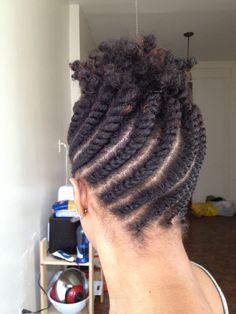 natural flat twist updo hairstyles favorable Natural Flat Twist Updo Hairstyles. I would finish the top.