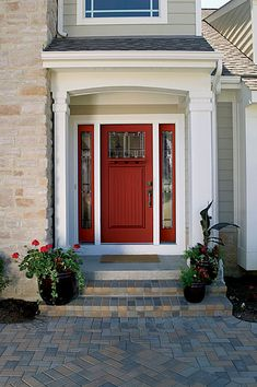 If you like frequently changing your door color, Therma-Tru Classic-Craft Collection doors are a great choice. These doors have a paintable surface, which allows you to chose your own paint color.