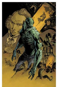 Abraham Sapien, born Langdon Everett Caul, is a fictional character introduced in the comic book series Hellboy, created by Mike Mignola. Comic Book Characters, Comic Character, Comic Books Art, Character Concept, Book Art, Concept Art, Character Design, Paranormal, Abe Sapien