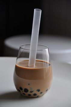 Bubble Tea. Have to keep looking for a recipe I really like, but isn't this the prettiest picture?