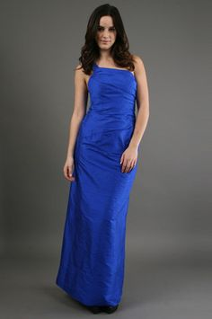 Phoebe Couture - Dupioni Dress in Cobalt at @CoutureCandy.com