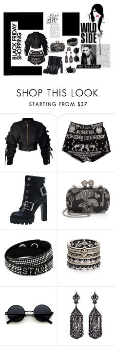 """Wild Black Friday"" by krnas on Polyvore featuring storets, KTZ, Alexander McQueen, Kendra Scott and Amrapali"