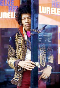 Jimi Hendrix photographed by Nico Van der Stam, 1966.