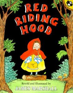 Traditional Literature. Red Riding Hood goes to visit her sickly grandmother and meets a wolf along the way. Could be used to teach kids not to talk to strangers.