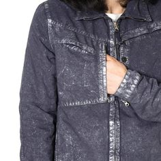 7325ef212c0 Stone Island Shadow Project David-C Garment Dyed Color Metal Treatment  Short Jacket