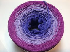 Mini 50 gr. Cotton Fingering Weight Color Changing Yarn Gradient Yarn - Purple…