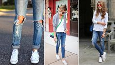 All Star branco com jeans