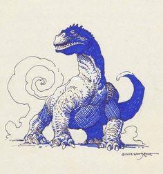 Rhedosaurus by William Stout