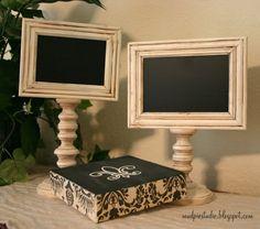 Chalkboard Pedestal Frames