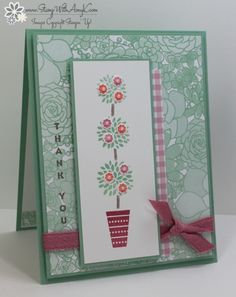 I used the Stampin' Up! Vertical Greetings and Birthday Fiesta stamp sets to create a thank you card to share with you today. My card design was inspired by Freshly Made Sketches 270. I start…