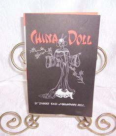 Original Dance Show Program, China Doll Nightclub & Restaurant, New York City Nightclub Venue, Midtown Nightclubs, Slant Eyed Scandals by SierrasTreasure on Etsy