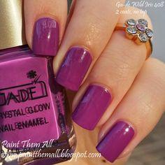 Paint Them All: Ga-de Wild Iris 408 #nails #nailart #purple