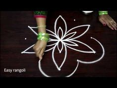 latest rangoli designs with 5x3 middle dots - simple kolam designs - muggulu designs - YouTube