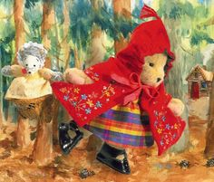 Couture Red Riding Hood Muffy Vanderbear [04-5788] - $49.00 : Village Bears, Your Friendly Bear Store