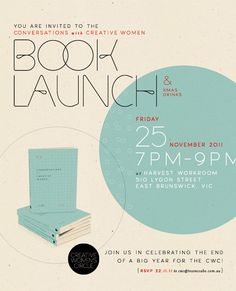 Book launch invitation design
