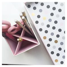 Our NEW Luxury Pen Cup & Document Tray are so pretty they make our office…
