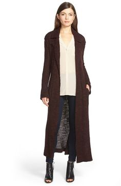 Willow & Clay Long Open Front Sweater Jacket available at #Nordstrom