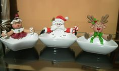 christmas clay, soap tray, jewelry drop, candy dish