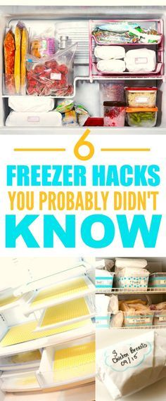 These 6 Organization Freezer Hacks are THE BEST! I'm so happy I found these GREAT tips! Now my freezer will finally be clutter free! Definitely pinning for later!