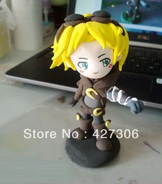 Wholesale Explorer Ezreal Q Version Lightweight Clay Action Figure Free Shipping