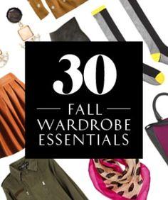 30 Fall Wardrobe Staples