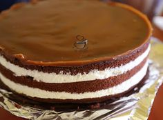 Tort cu lapte batut, mascarpone si caramel – La Ancuta Tiramisu, Caramel, Pudding, Ethnic Recipes, Desserts, Food, Mascarpone, Sticky Toffee, Tailgate Desserts