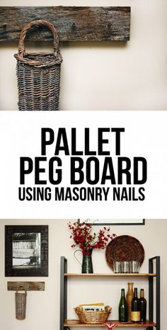 Make an easy DIY pallet peg board for rustic home decor @istandarddesign
