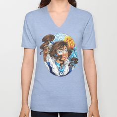 Korra V-neck T-shirt by Little Lost Forest - $24.00