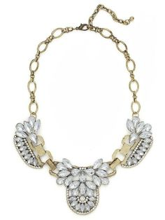 Gorgeous Gold & Crystal Statement Necklace by Baubleologie